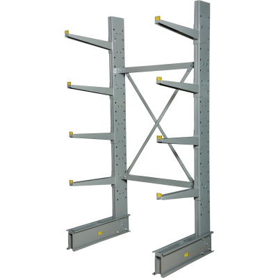 "Cantilever Rack Single Sided Starter Unit Heavy Duty (2000 Series),48""W  x 38""D x 8'H,13300 Lbs Cap"