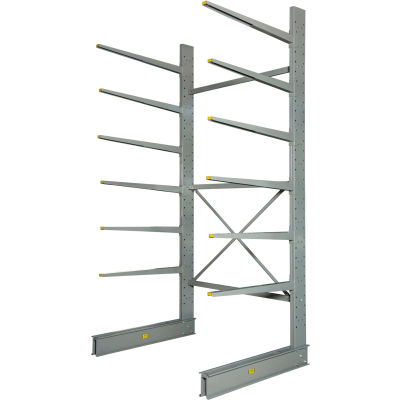 "Cantilever Rack Single Sided Starter Unit Heavy Duty (2000 Series),72""W  x 52""D x 12'H,8500 Lbs. Cap"