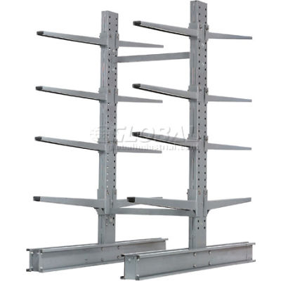"Cantilever Rack Double Sided Starter Unit Heavy Duty (2000 Series),48""W  x 59""D x 8'H,26600 Lbs Cap"