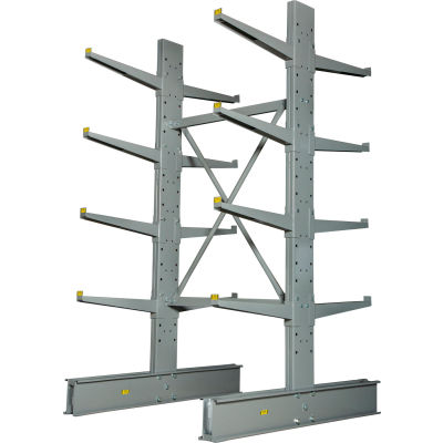 """Cantilever Rack Double Sided Starter Unit Heavy Duty (2000 Series),48""""W  x 59""""D x 8'H, 26600 Lbs Cap"""