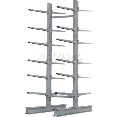 "Cantilever Rack Double Sided Starter Unit HD (2000 Series),72""W  x 107""D x 12'H, 17000 Lbs Cap"