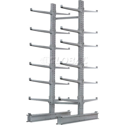 """Cantilever Rack Double Sided Starter Unit HD (2000 Series),72""""W  x 107""""D x 12'H, 17000 Lbs Cap"""