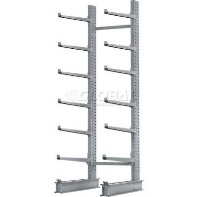 "Cantilever Rack Single Sided, Starter Unit Extra Heavy Duty, 72""W  x 49""D x 10'H, 15800 Lbs Capacity"