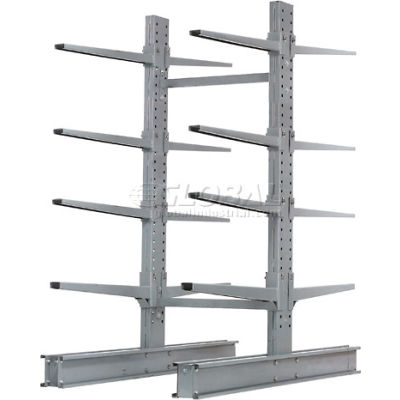 """Cantilever Rack Double Sided, Starter Unit Extra Heavy Duty, 48""""Wx65""""D x 8'H, 43000 Lbs. Capacity"""