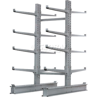 """Cantilever Rack Double Sided, Starter Unit Extra Heavy Duty, 48""""W  x 65""""D x 8'H, 43000 Lbs Capacity"""