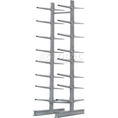 """Cantilever Rack Double Sided, Starter Unit Extra Heavy Duty, 72""""Wx106""""D x 12'H, 25000 Lbs Capacity"""