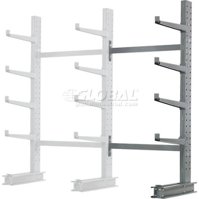 "Cantilever Rack Single Sided, Add-On Unit Medium Duty (1000 Series),48""W  x 33""D x 8'H, 5300 Lbs Cap"