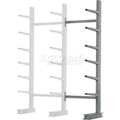 "Cantilever Rack Single Sided Add-On Unit Medium Duty (1000 Series),72""W  x 45""D x 10'H, 3800 Lbs Cap"