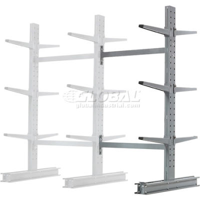 "Cantilever Rack Double Sided Add-On Unit Medium Duty (1000 Series),48""W  x 54""D x 6'H, 16200 Lbs Cap"
