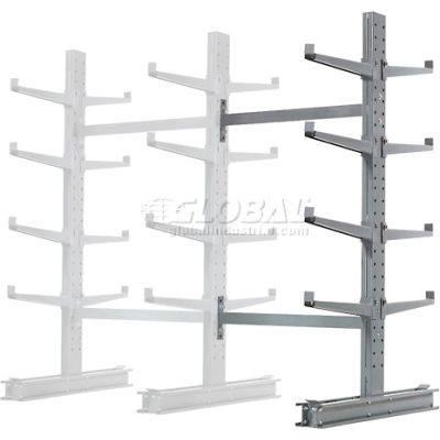 "Cantilever Rack Double Sided, Add-On Unit Medium Duty (1000 Series),48""W  x 54""D x 8'H,10600 Lbs Cap"