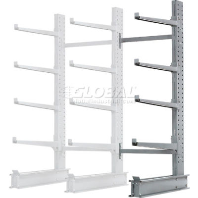 "Cantilever Rack Single Sided Add-On Unit Heavy Duty (2000 Series),48""W  x 38""D x 8'H, 13300 Lbs Cap"