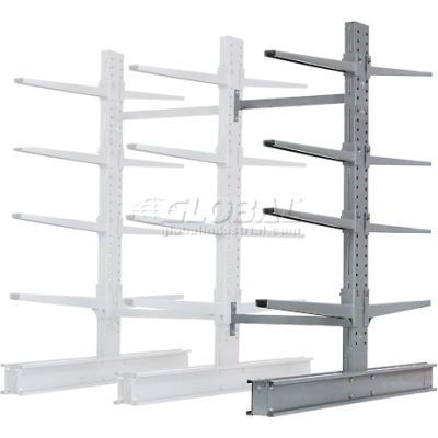 """Cantilever Rack Double Sided Add-On Unit Heavy Duty (2000 Series),48""""W  x 59""""D x 8' H,26600 Lbs. Cap"""