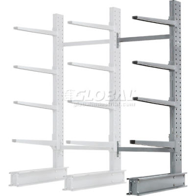 "Cantilever Rack Single Add-On Unit Extra Heavy Duty, 48"" W  x 37"" D x 8' H, 21500 Lbs. Capacity"