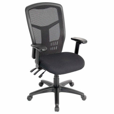 Interion® Mesh Task Chair - Fabric - High Back - Black