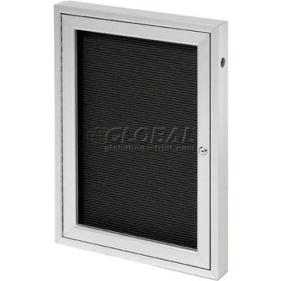 """United Visual Products One-Door Outdoor Letter Board - 18""""W x 24""""H"""