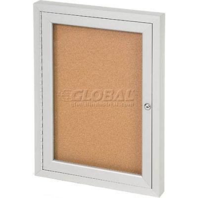 "United Visual Products One-Door Indoor Corkboard - 18""W x 24"""