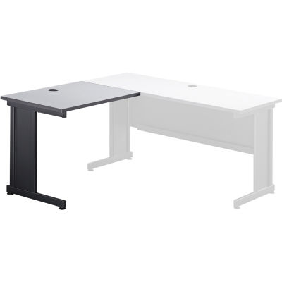 "Interion® 36""W Left Handed Return Table, Gray"