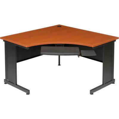 "Interion® 48"" Corner Desk Cherry"