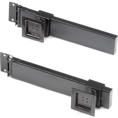Global Industrial™ Double Arm Kit with 2 VESA Mounts For Orbit Workstation - Black