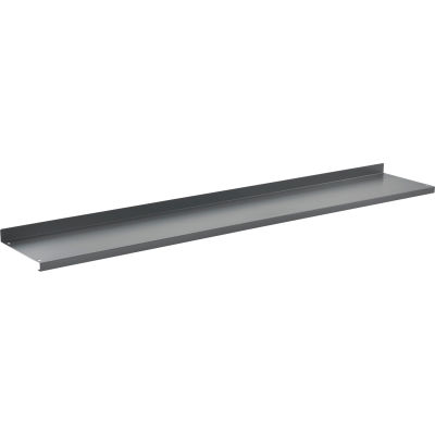 "Global Industrial™ Cantilever Upper Steel Shelf For Bench Uprights - 72""W x 12""D - Gray"