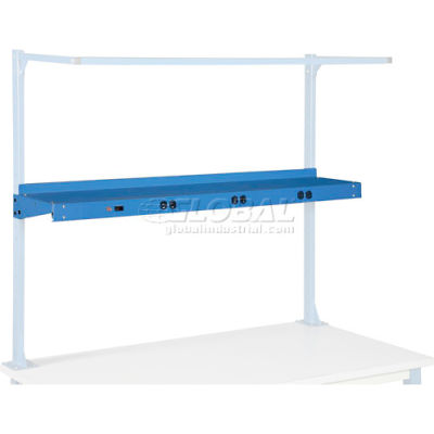 """Global Industrial™ 60""""W Shelf With Pre-Wired Electric - Blue"""