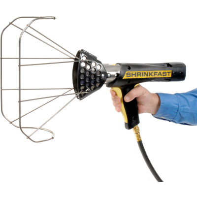 Shrinkfast Heat Gun w/ Safety Cage Assembly, Safety Trigger & Storage Case