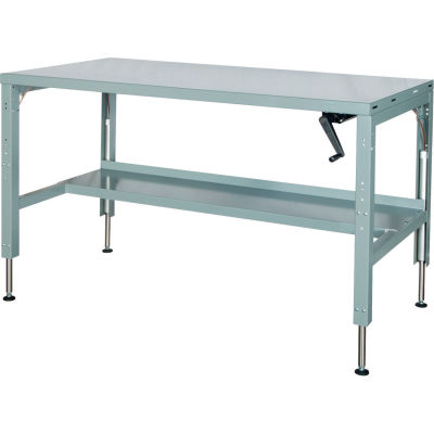 48 x 29 Hydraulic Ergonomic Workbench-Steel Top