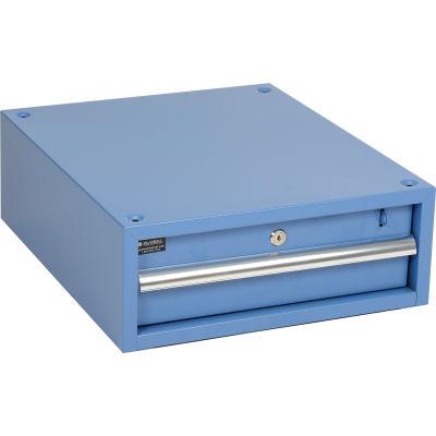 "Global Industrial™ Steel Workbench Drawer, 17-1/4""W x 20""D x 6""H, Blue"