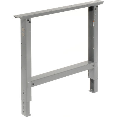 """Global Industrial™ C-Channel Adjustable Height Leg 29 to 35""""H - for 36""""D Workbench, 1 Leg Gray"""
