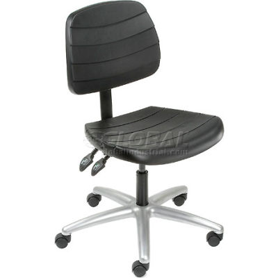 Interion® Polyurethane Chair - Mid Back - Black