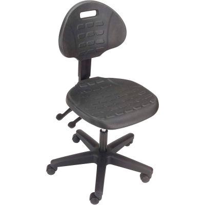Interion® Ergonomic Polyurethane Chair, Black