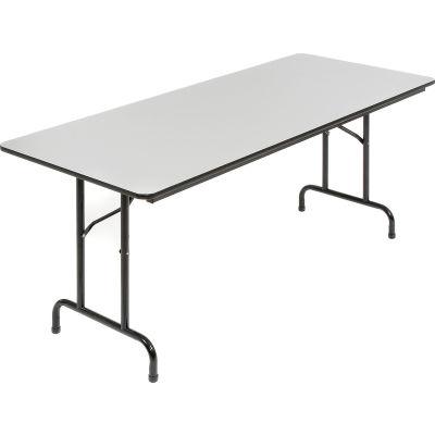 Interion® 6' Folding Table - Laminate - Gray