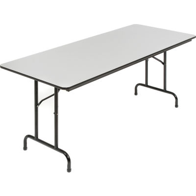 Interion® Laminate Folding Table, 6', Gray