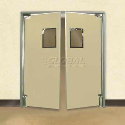 """Aleco® 6'0"""" x 7'0"""" Twin Panel Medium Duty Beige Impact Door 432040"""