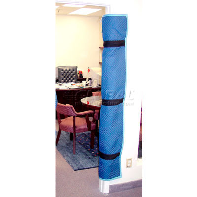 American Moving Supplies Padded Blue Quilted Fabric Door Jamb Protector FC1005