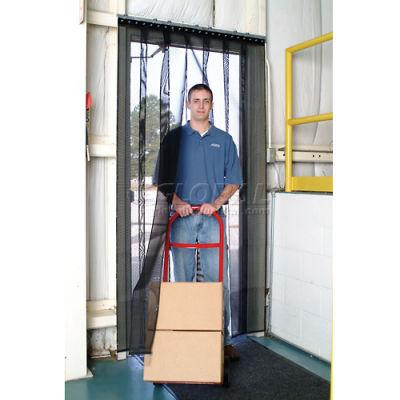 Aleco® Air-Flex® Black Insect Barrier & Bug Curtain 405081 2'W x 7'H