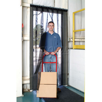Aleco® Air-Flex® Black Insect Barrier & Bug Curtain 405009 4'W x 8'H