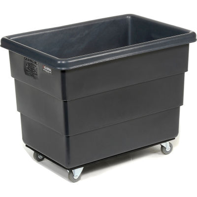 Dandux Black Recycled Plastic Box Truck 51Q126010X-073 10 Bushel 500 Lb. Cap.