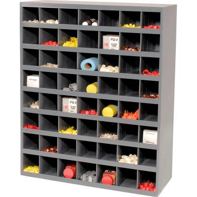 Durham Steel Storage Parts Bin Cabinet 361-95 Open Front - 56 Compartments