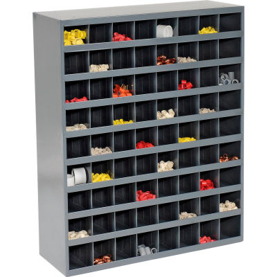 Durham Steel Storage Parts Bin Cabinet 363-95 Open Front - 72 Compartments
