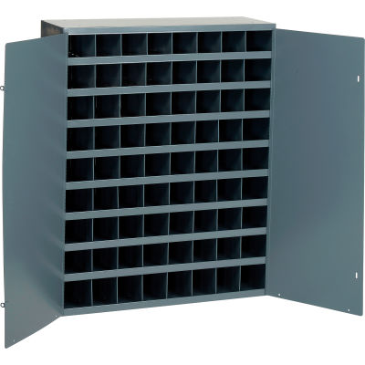 Durham Steel Storage Parts Bin Cabinet 363-95 With Doors  - 72 Compartments