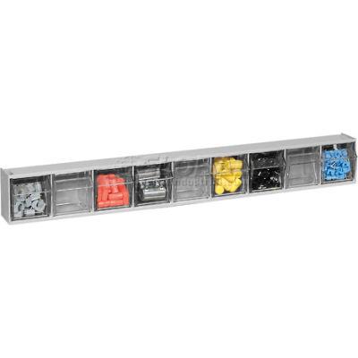 Quantum Tip Out Storage Bin QTB309 - 9 Compartments Gray