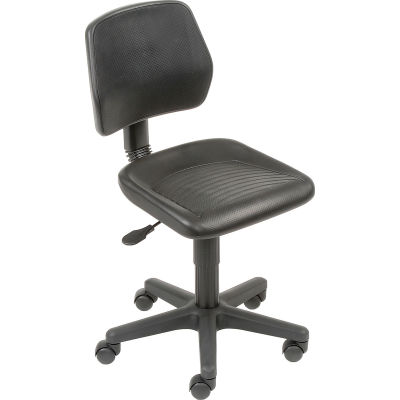 Interion® Industrial Task Chair - Polyurethane - Black
