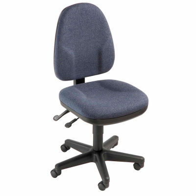 Interion® Multifunction Office Chair - Fabric - Blue
