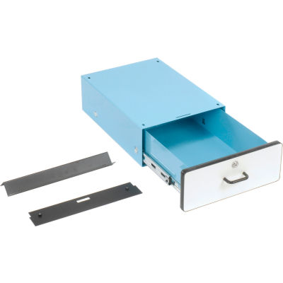 """6""""H Lockable Stacking Drawer - Blue forr Pro-Line Workbench"""