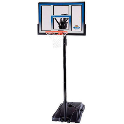 "Lifetime® Courtside Portable Basketball Hoop W/ 48"" Clear, Fushion Backboard, 48"" x 69"" x 146"""