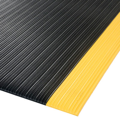"""NoTrax® Achilles™ Surface Mat 5/8"""" Thick 3' x 30' Black/Yellow Border"""