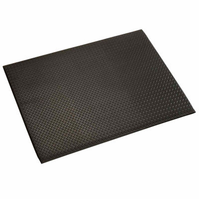 "Apache Mills Diamond Deluxe Soft Foot™ Mat 1/2"" Thick 3' x 5' Black"