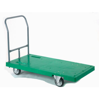 Best Value Plastic Deck Flatbed Platform Truck 52 x 25 2000 Lb. Capacity