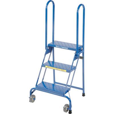 3 Step Lock-N-Stock Folding Ladder - LS3247